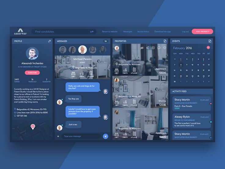 Hello, players! Today I would like to share with you a little slice of design for a startup in France. Here is the dashboard for a resource that helps people find or add rental ads about their ap...