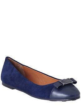 Marc by Marc Jacobs Tuxedo Logo Plaque Ballerina Flat | Piperlime