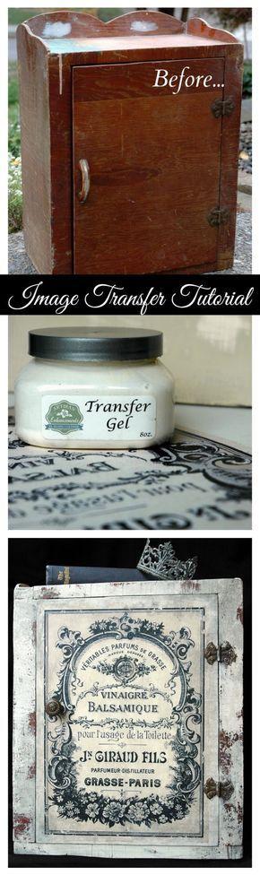 repisa armario mueble Artisan Enhancements Image Transfer Tutorial