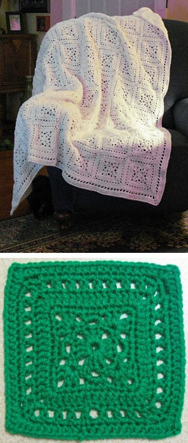 Grecian Tiles afghan, free pattern by Happy Yellow House  #crochet #blanket #throw #lacy #square