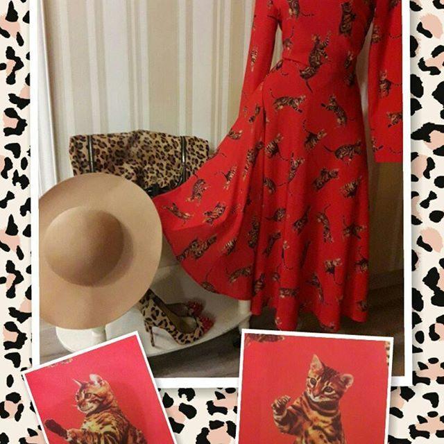 #платья #кошки #леопард #красный #grandbasil