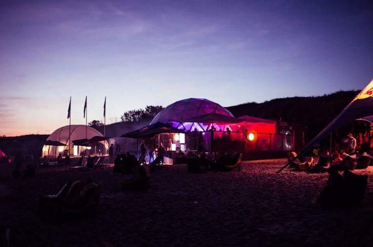 "Geodesic dome ISO11. ,,Švyturys"" beach bar in Nida Lithuania"