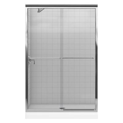 """KOHLER 47-5/8""""W x 70-1/4""""H Frameless Sliding Shower Door"""
