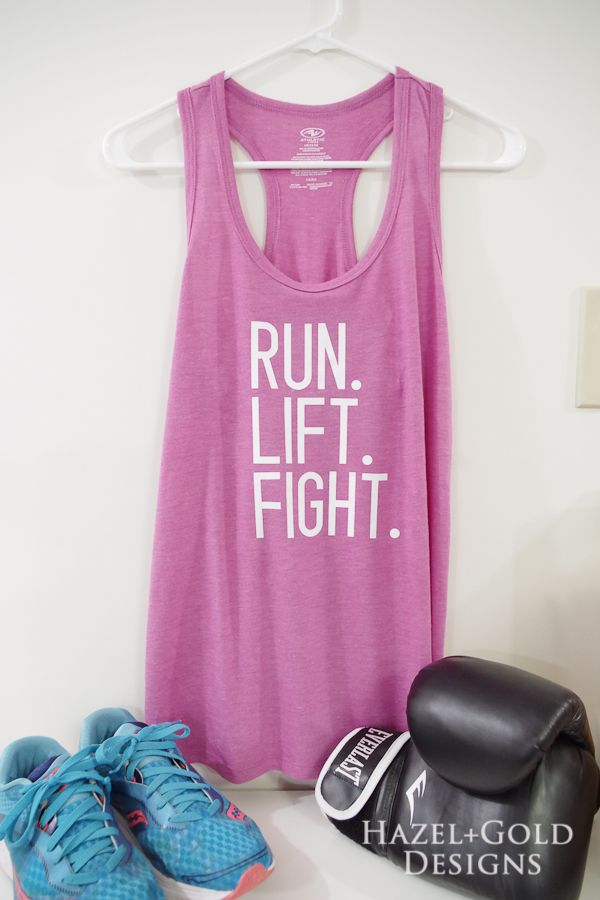 Check out this awesome workout tank with my custom phrasing. Made this  using the NEW