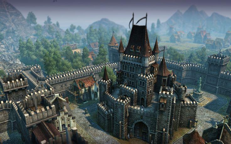 fantasy medieval castle hd widescreen wallpaper.jpg (1920×1200)