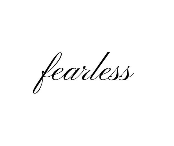 FEARLESS temporary wrist-sized tattoo - affirmation inspiring words {BUY IT HERE: https://www.etsy.com/au/listing/209809872/fearless-temporary-tattoo-affirmation}