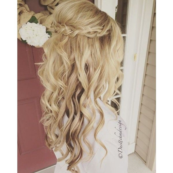 Wedding Hair Extensions ❤ liked on Polyvore featuring beauty products, haircare, hair styling tools, hair, hairstyles, blonde and other
