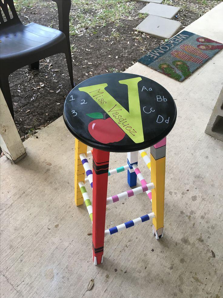 Diy teacher stool