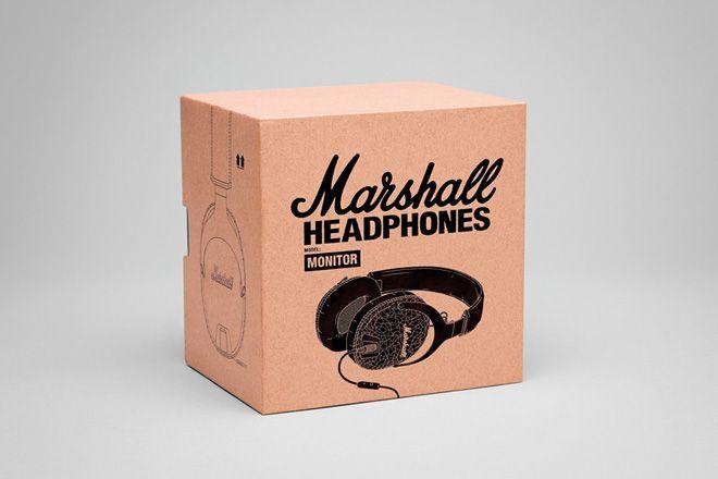 Marshall Monitor Black Headphones   HUH.