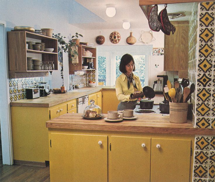 1970s kitchen featured in Lunch Lady Issue One.  Lunch Lady Magazine available at http://shop.hellolunchlady.com.au/