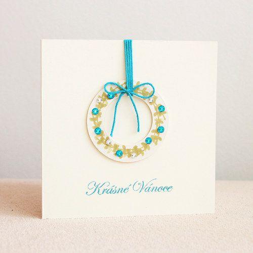 Xmas card with wreath by alsine design (2013)