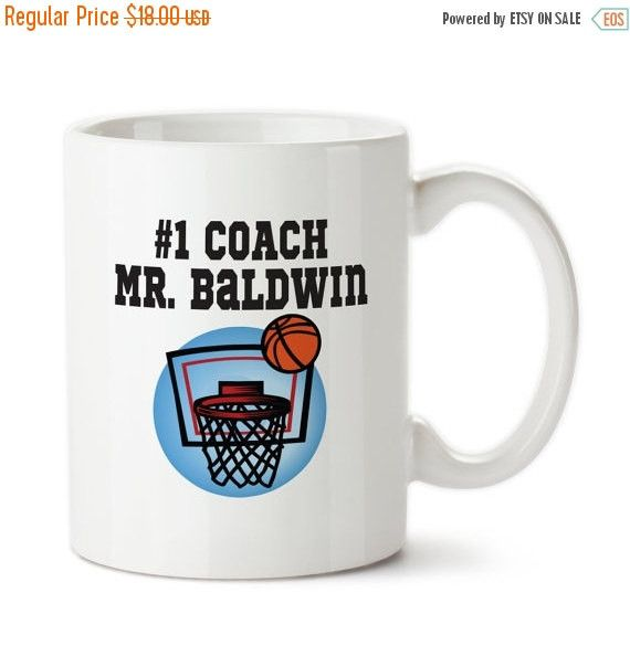 Coffee Mug, Number One Coach, Personalized Coach Mug, Gift For Basketball Coach, Best Coach Ever, Customized Mug,