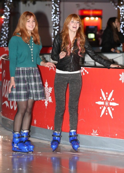 ".@AnythingDiz - @BellaThorne and Kaili Thorne at the opening night of @Disney on Ice's ""Dare to Dream"""