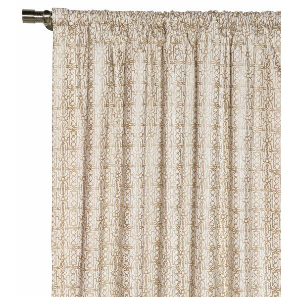 Halo Geometric Room Darkening Rod Pocket Single Curtain Panel Panel Curtains Taupe Curtains Curtains