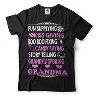 Wish   Grandma Funny T-shirt Birthday Gift Gift For Grandmother Baby Shower Idea Baby Announcement Tee Shirt New Baby Gift
