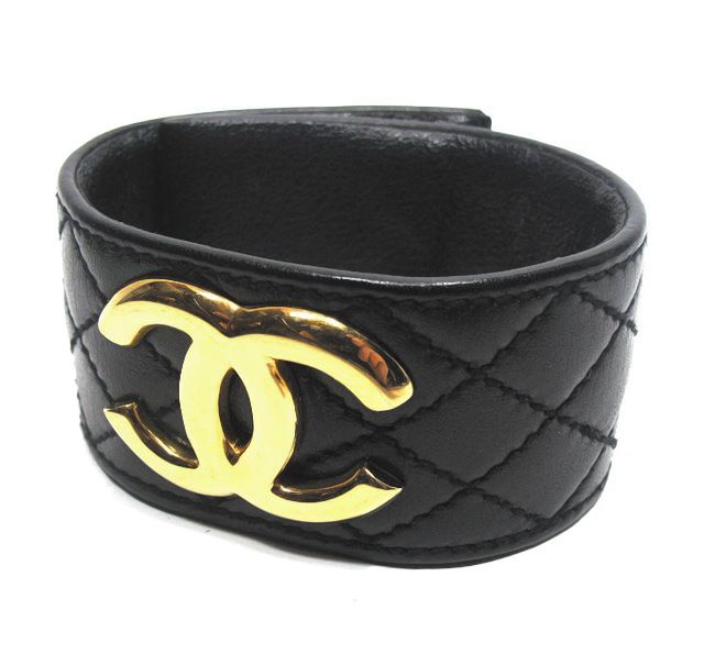 Chanel Quilted Leather Cuff Great Travel Accessory Goes With Everything Bangles Cuffs Stackables Pinterest Coco And Jewelry