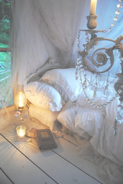 My kind of get away.... read a book.... snuggle with the girls....take a nap....sweet dreams indeed...