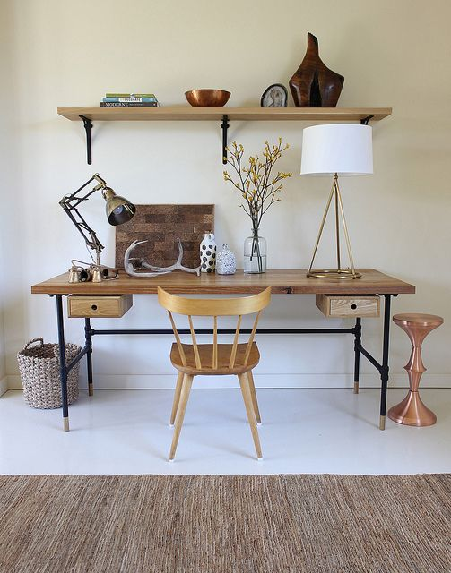 Boho Decor Work Space | Bohemian Home Office