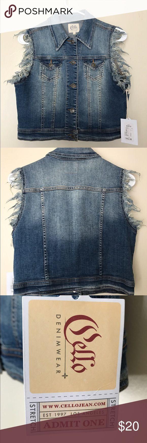 Cello sleeveless denim jacket Brand new denim jacket Cello Jeans Jackets & Coats Jean Jackets
