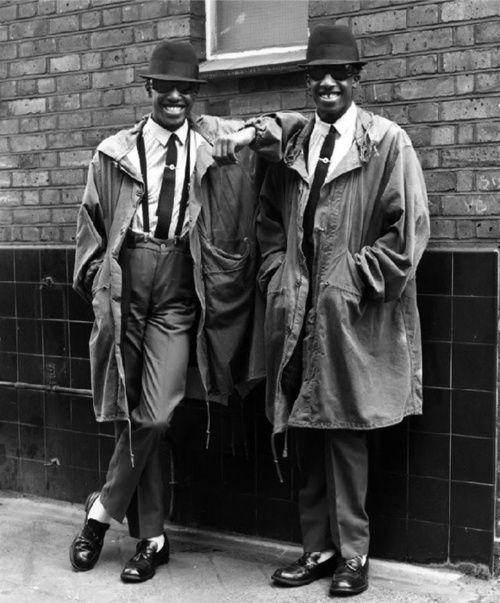 Rude boy Twins Chuka and Dubem, London by Janette Beckman, 1979