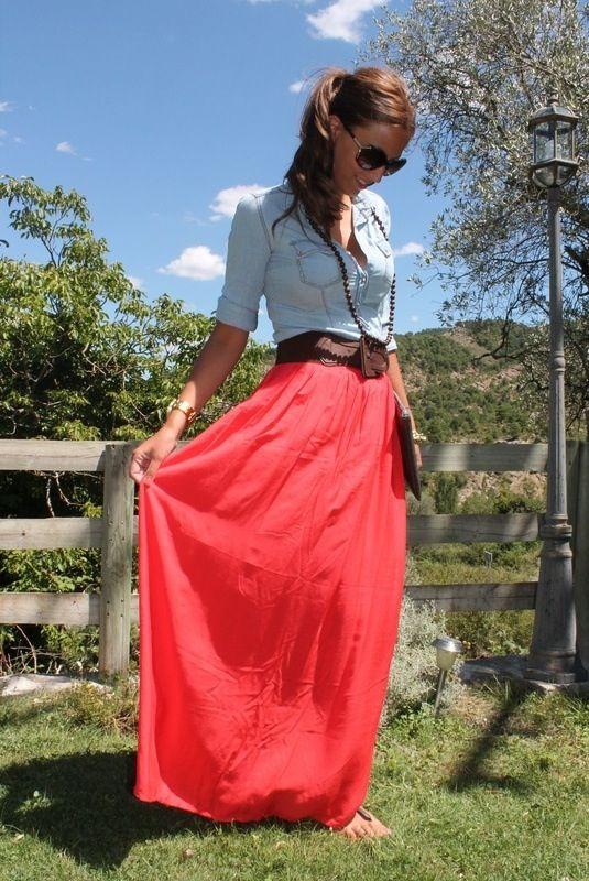 Love this long skirt
