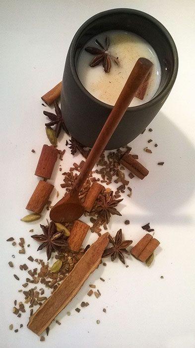 Recette du Chaï Latte, thé indien à base d'épices et de lait