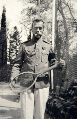 Tsar Nicholas II, liked to play tennis with his family members.