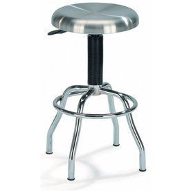 New Spec Chrome/Stainless Steel 29.5-In Adjustable Stool 213014