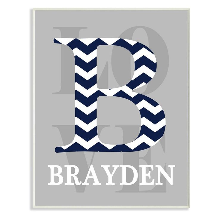 Stupell Decor Chevron Initial Personalized Wall Plaque Art - PNP-1078_WD_10X15