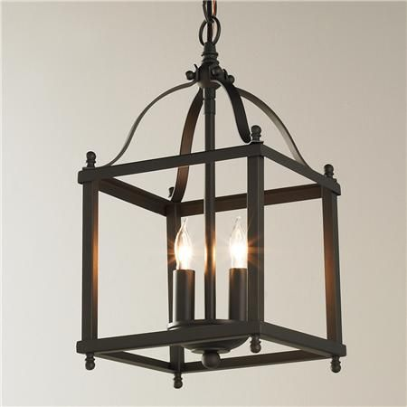 """Could use in Mudroom...Only 14"""" h $150 Mini Lantern Pendant Light"""