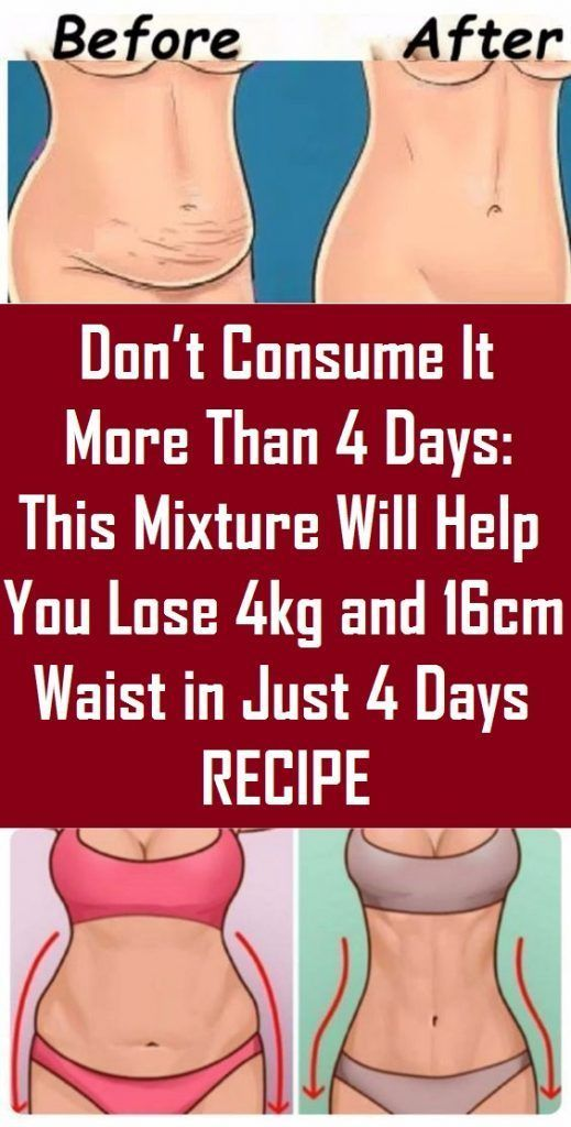 Don't Devour It Extra Than four Days: This Combination Will Assist You Lose 4kg and 16cm Waist in Simply four Days