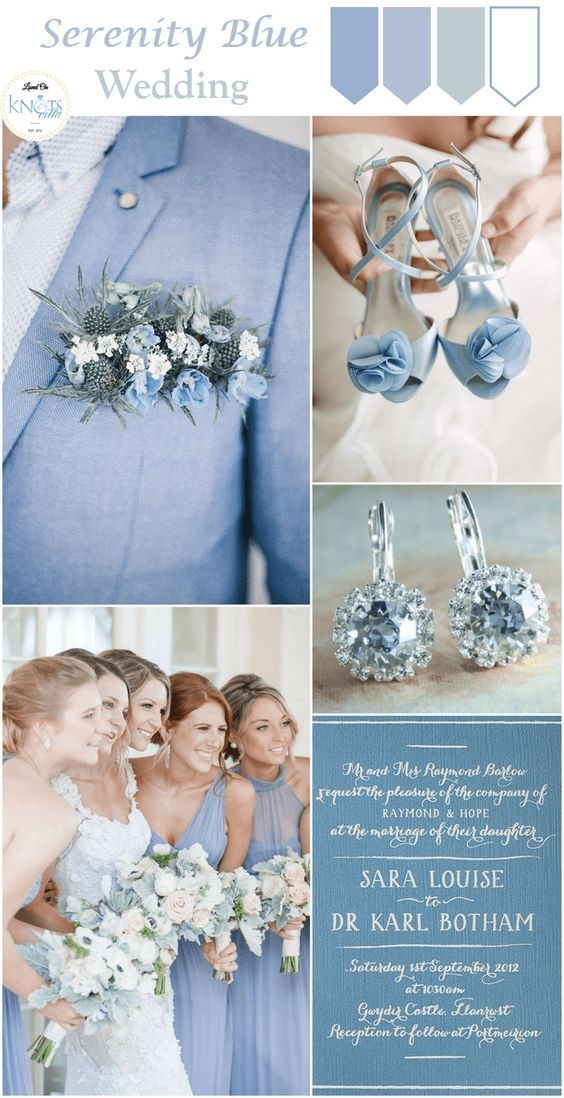 serenity blue wedding inspiration