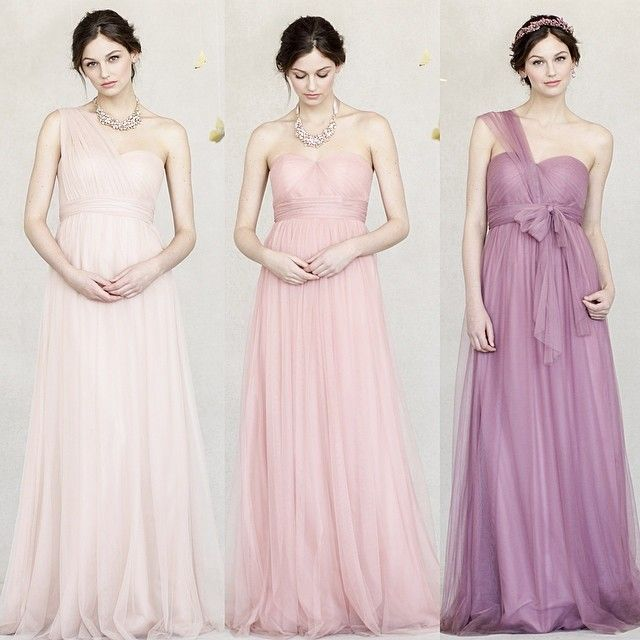 Annabelle Dress in shades of pink!  Cameo Pink, Begonia PInk & Cherry Blossom http://www.jennyyoo.com/soft-tulle-02.html