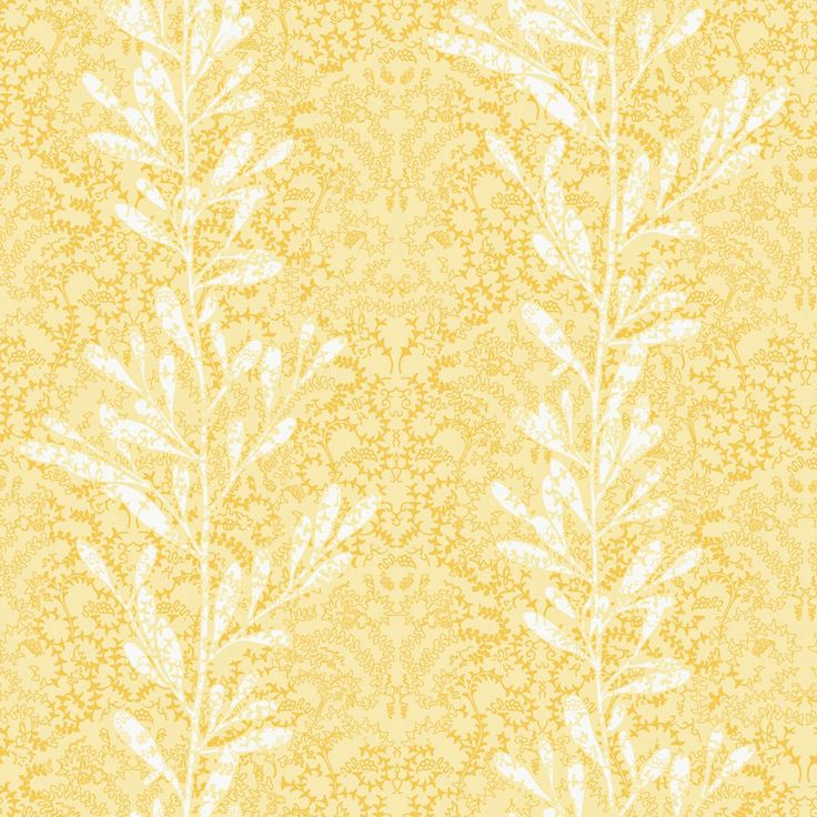 20.5 In. W Yellow Vertical Stripe Of Leaves On A Textured Background  Wallpaper