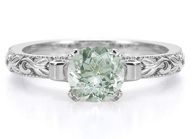 Green Amethyst Engagement Ring :)