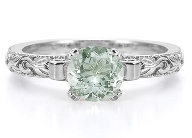 Green Amethyst Engagement Ring :)
