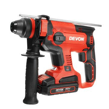DEVON 5401 2.6Ah Dual Use Electric Charge Hammer Impact Drill with Light