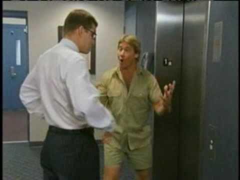 Here is a video of Steve Irwin wrestling the Florida Gators mascot in an ESPN video  So long Crocodile Hunter