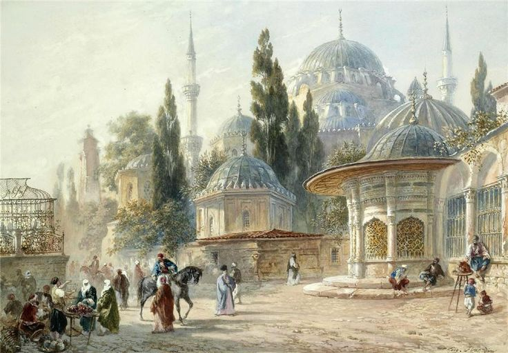 Eugène-Napoleon Flandin (1803-1876) The Sehzade Mosque in Laleli, Constantinople, Turkey