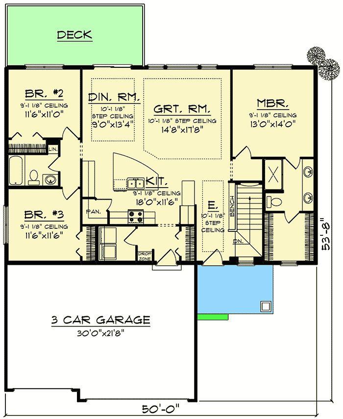 craftsman ranch house plan 890046ah architectural designs house plans - Designer House Plan 120 165