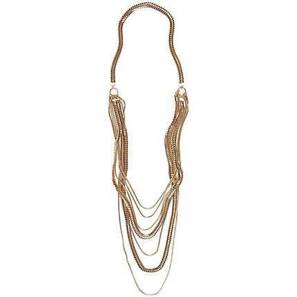 Gold tone slinky layered chain necklace £25.00