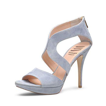 Evita Shoes Damen Sandalette, hellblau