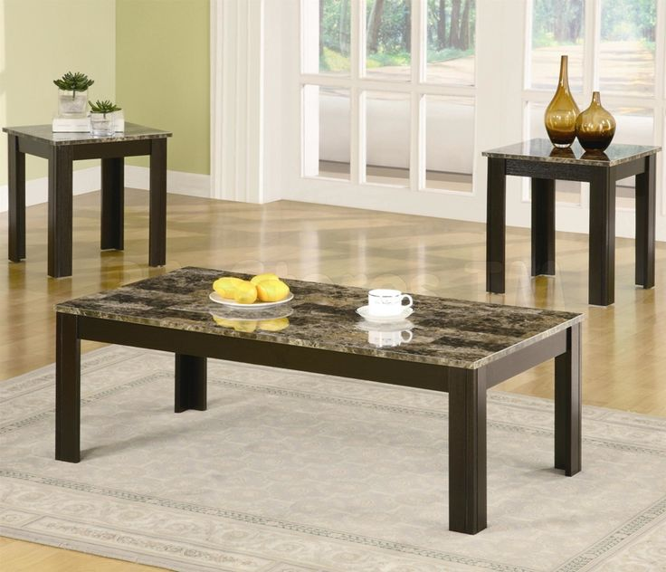 Marble Top Coffee Table Sets Living Rooms Coffee And End Table Set Image