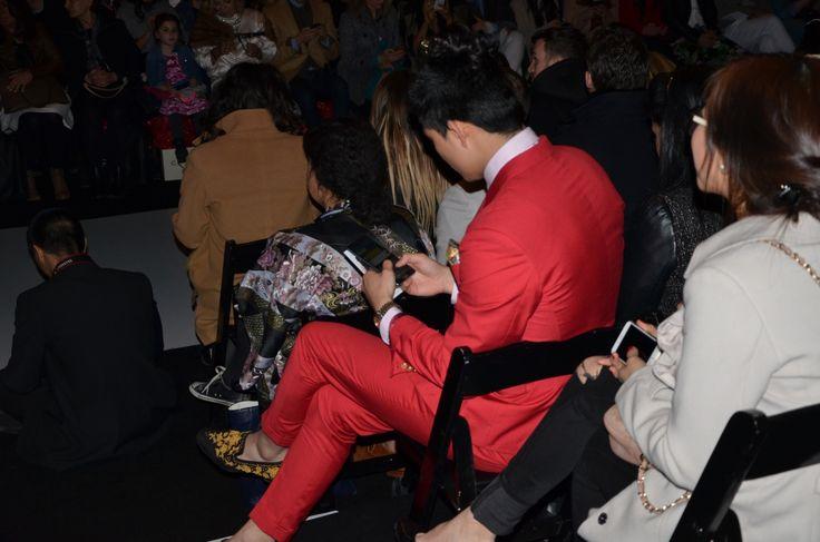 Man in Red...   Toronto Fashion Week - Fall 2015  Runway Magazine Canada