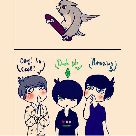 """Lol I love the Dil fanart. I think this is a drawing of an owl using the """"owl slide"""""""