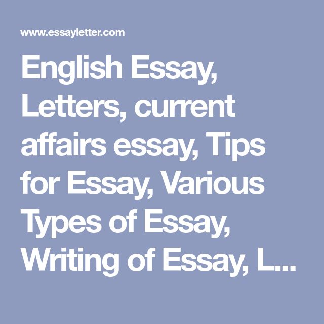 English Essay Letter Current Affair Tip For Variou Type Of Writing Application En Affairs