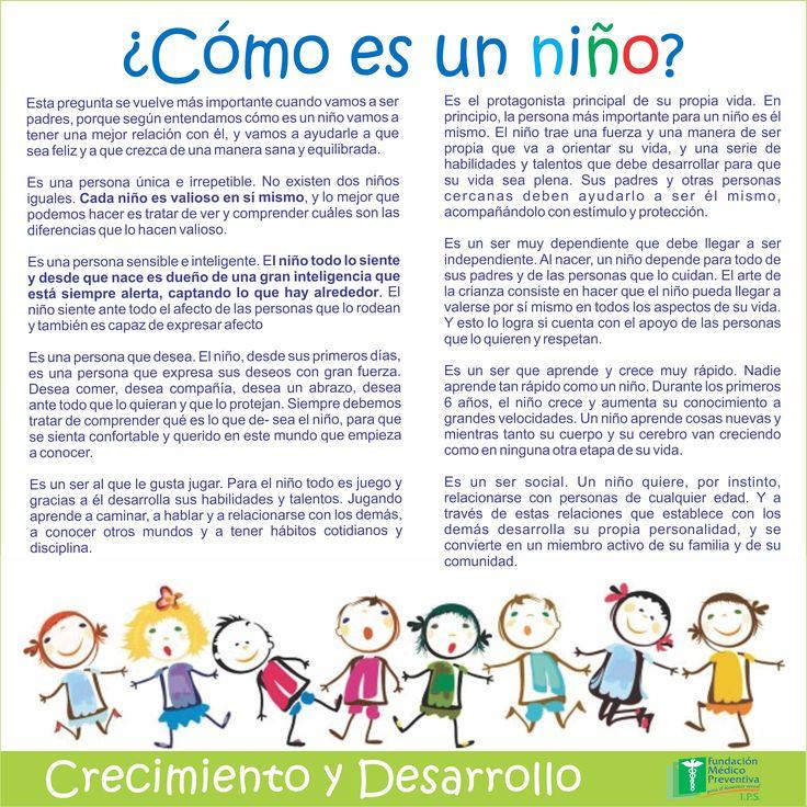 #Crecimiento y #Desarrollo  ¿Cómo es un niño?