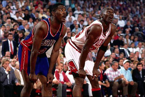 Joe Dumars & Michael Jordan