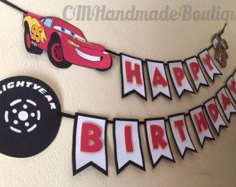 Premium Disney Pixar Cars cumpleaños Banner por TheCraftyGodMother
