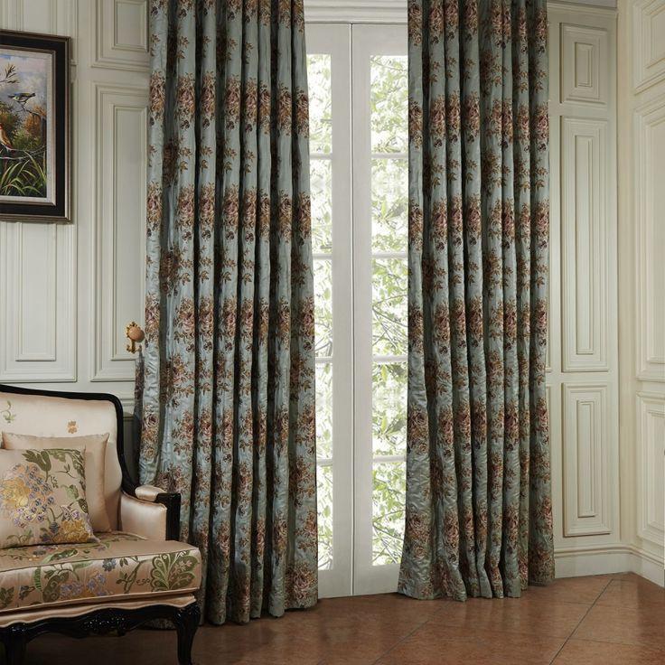 Neoclassical Luxurious Floral Energy Saving Curtain  #curtains #homedecor #decor #homeinterior #interior #design #custommade